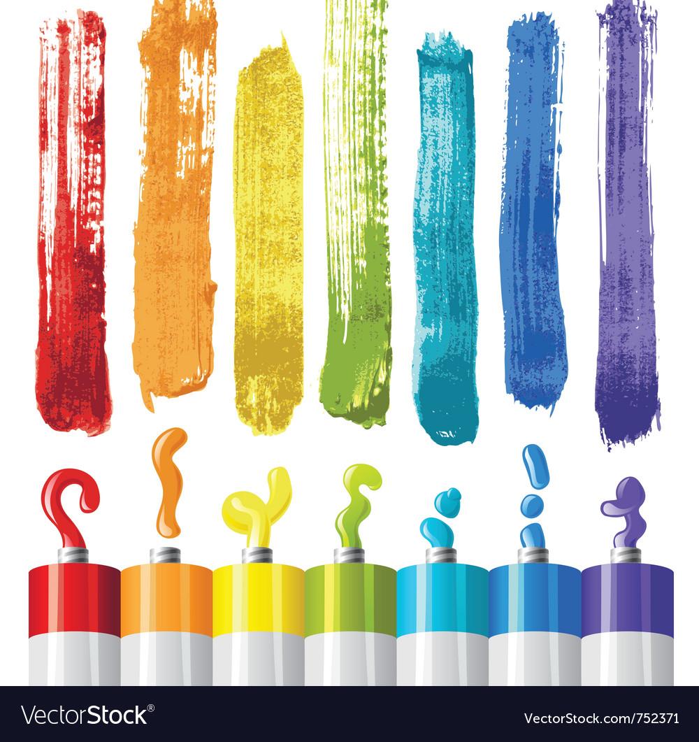 Oil paints vector image