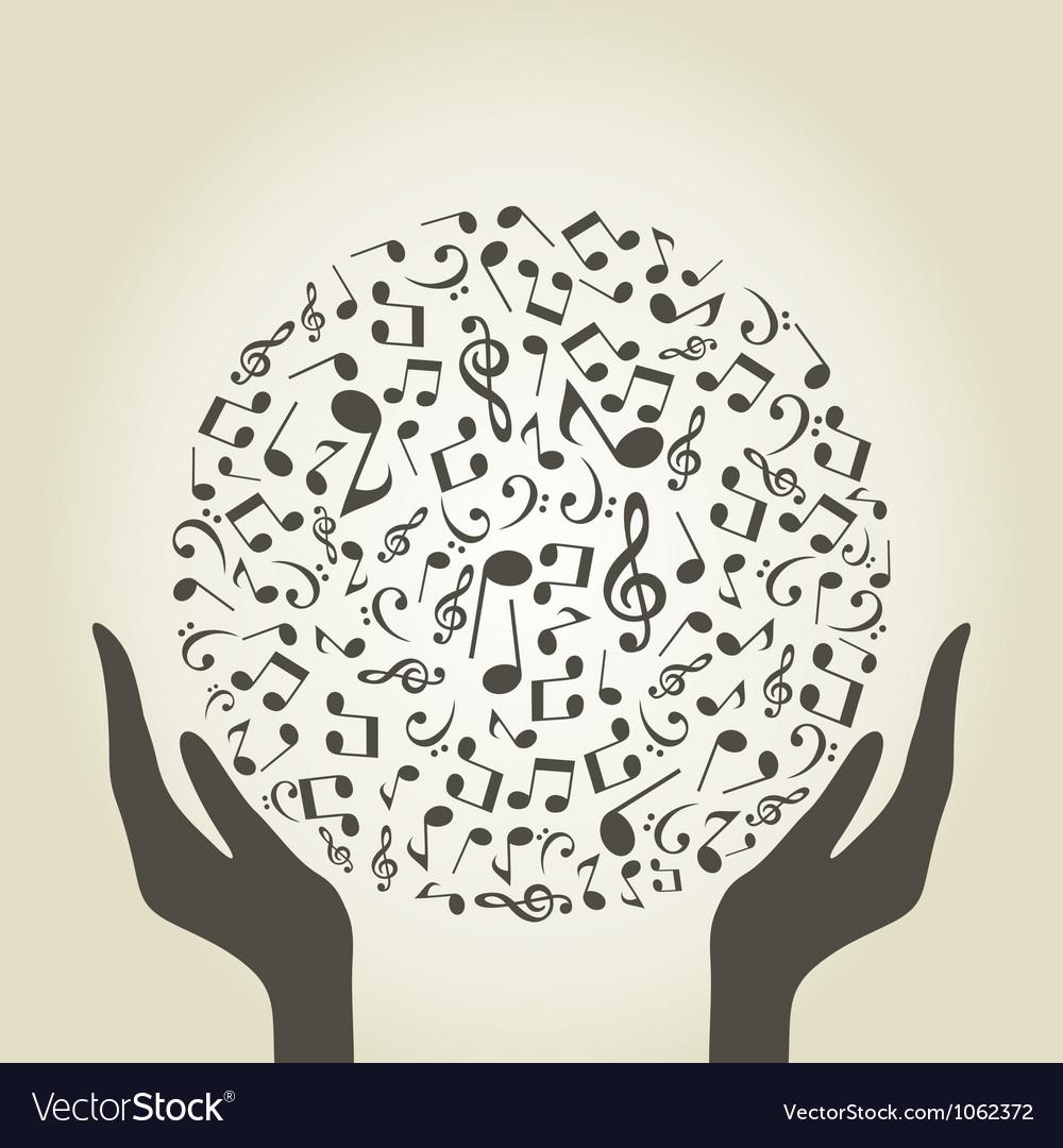 Music hand4 vector image