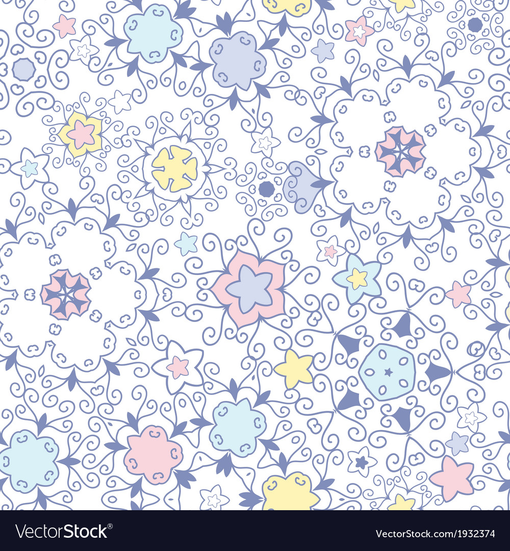 Ornamental abstract swirls seamless pattern vector image