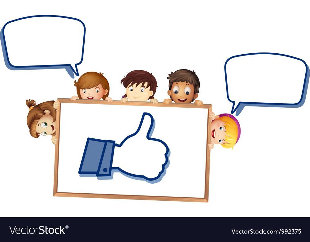 Cartoon Boy Like Thumb vector image