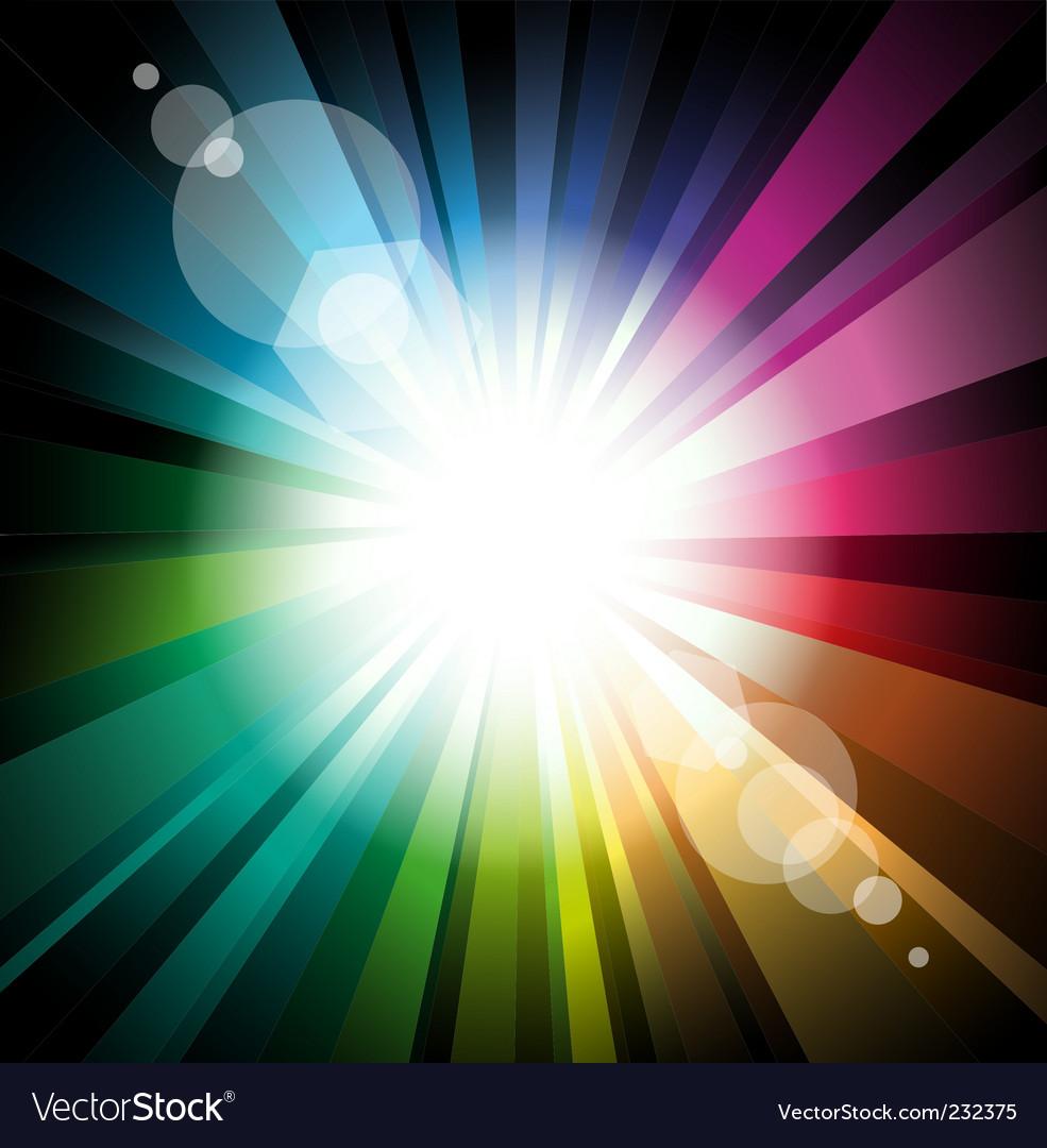 Radiant background vector image