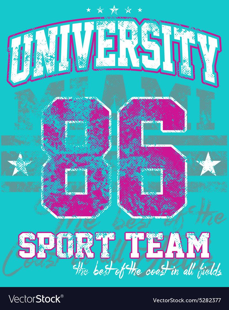 University sport team vector image