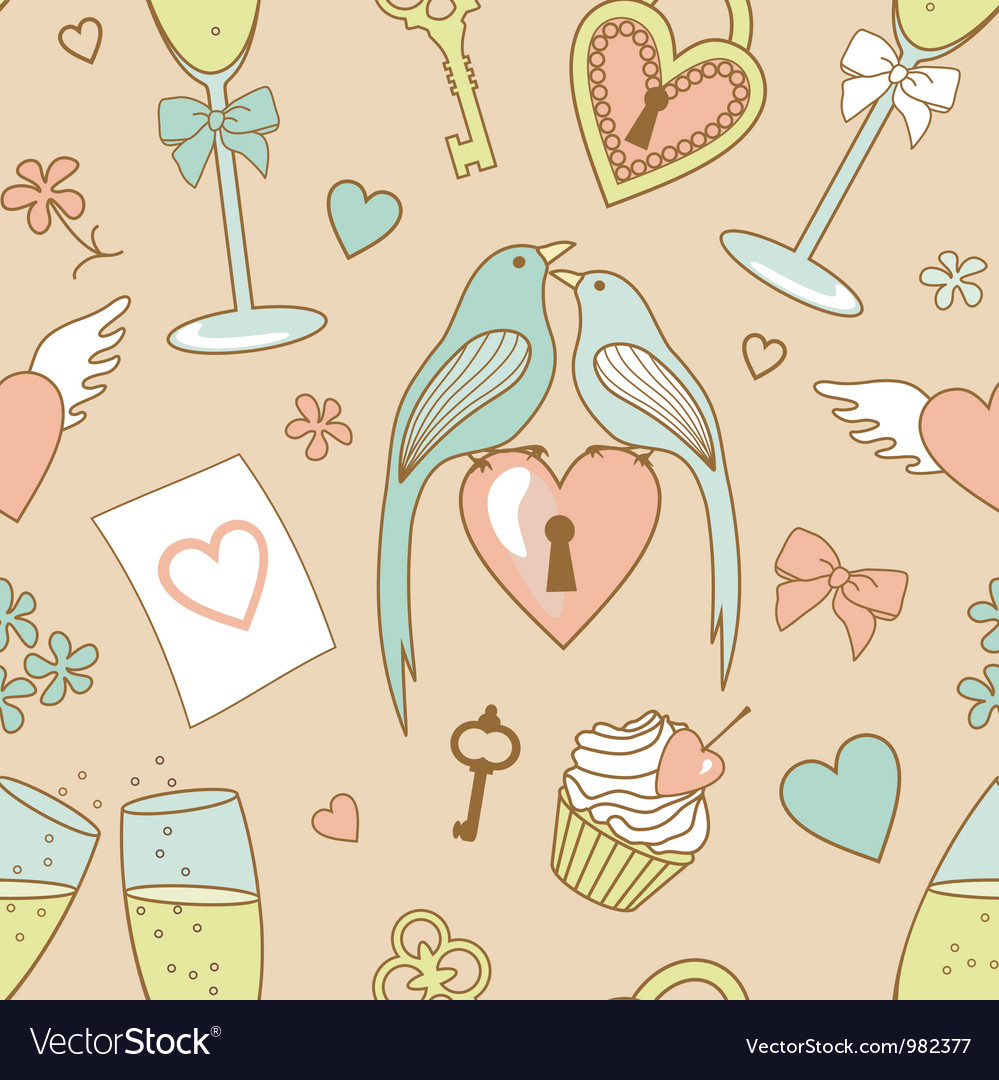 Wedding pattern vector image