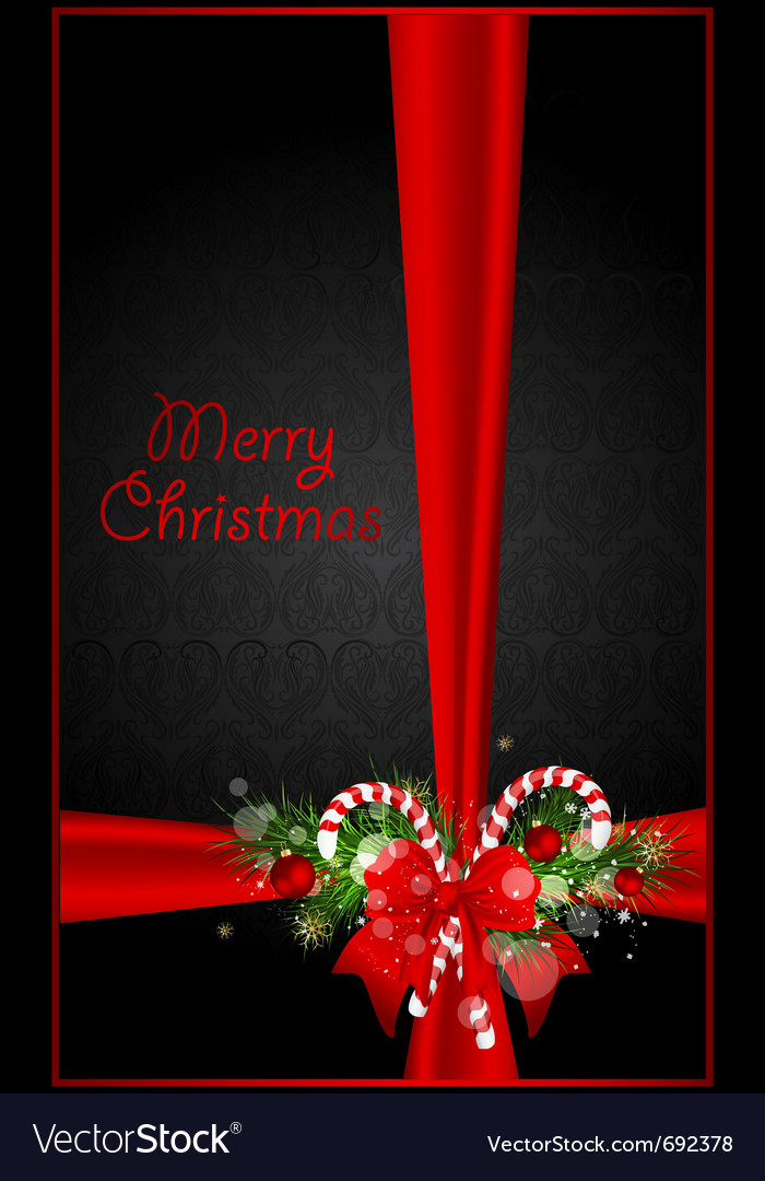 Greeting xmas card vector image