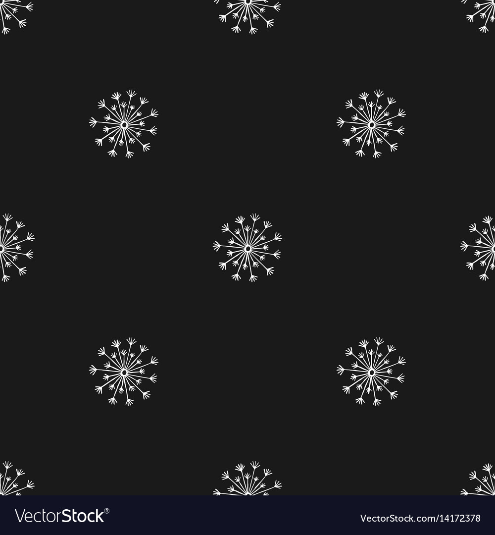 Seamless pattern with hand drawn silhouette vector image