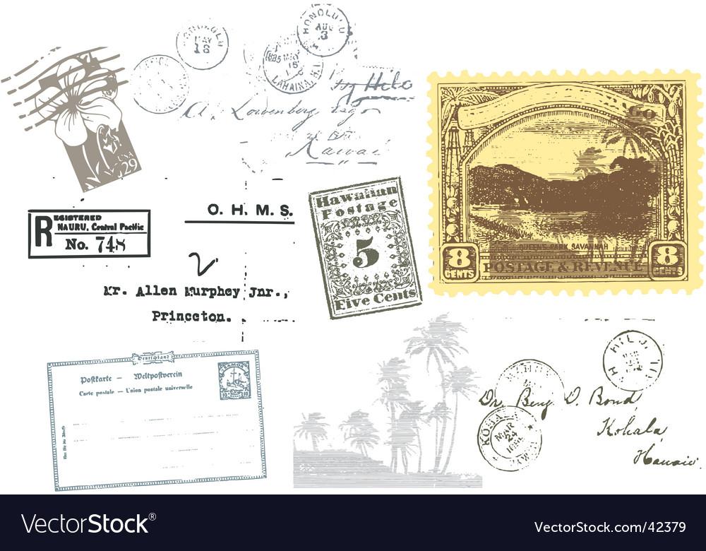 Travel passport stamps vector image