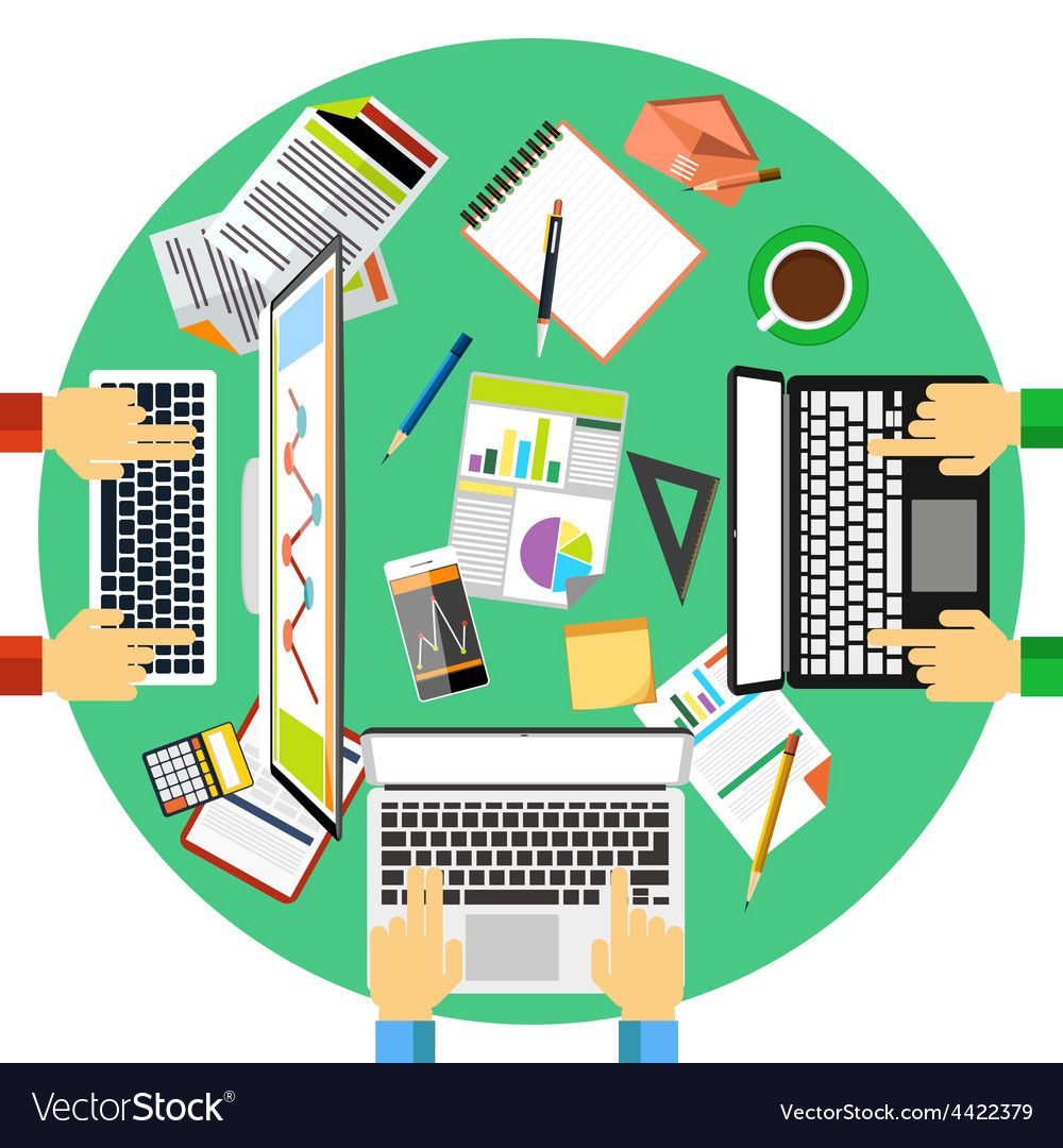 Working process of business team concept vector image