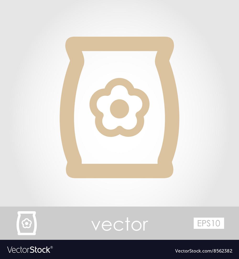 Bag sack flower seed icon vector image