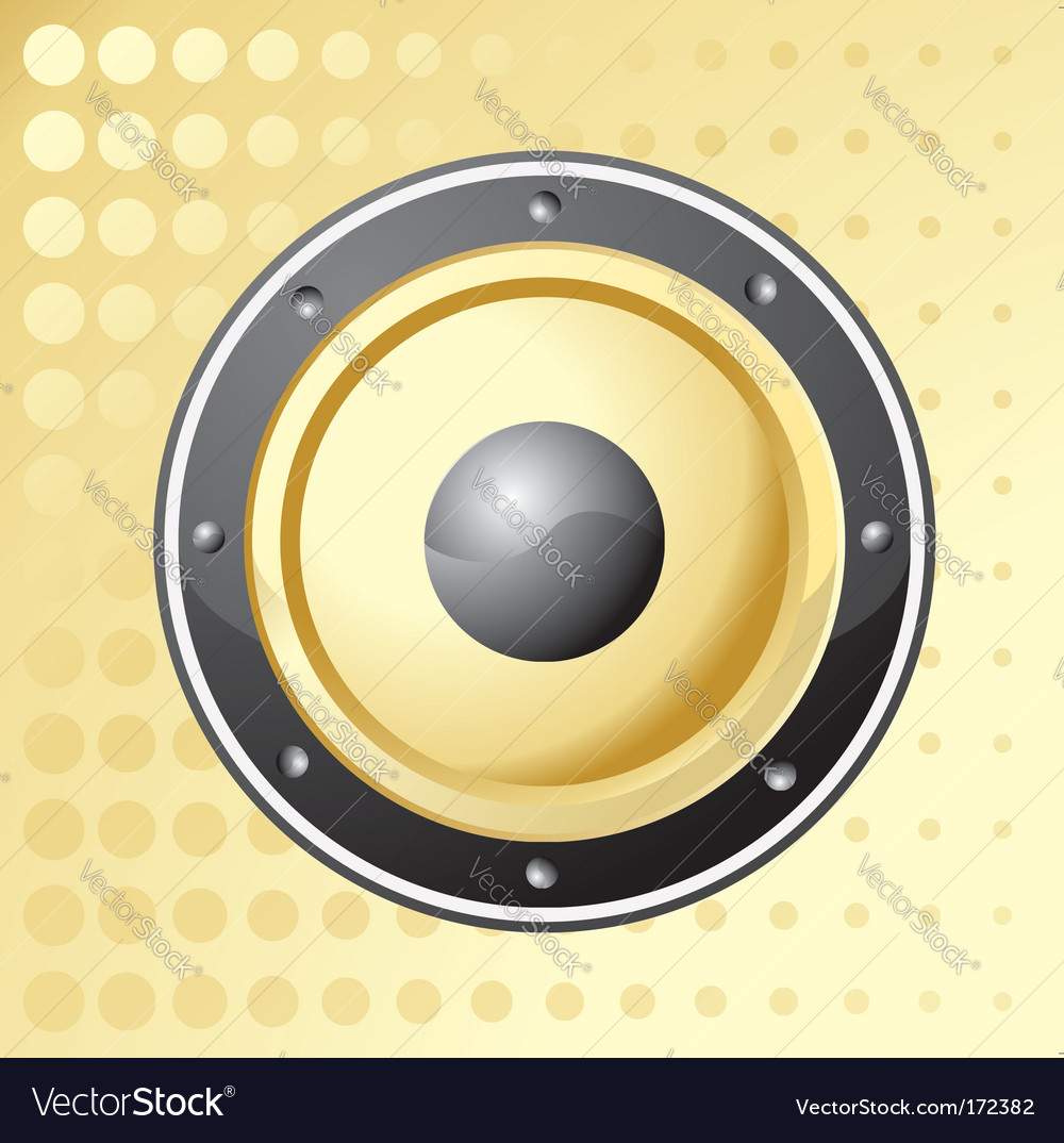 Golden speaker vector image