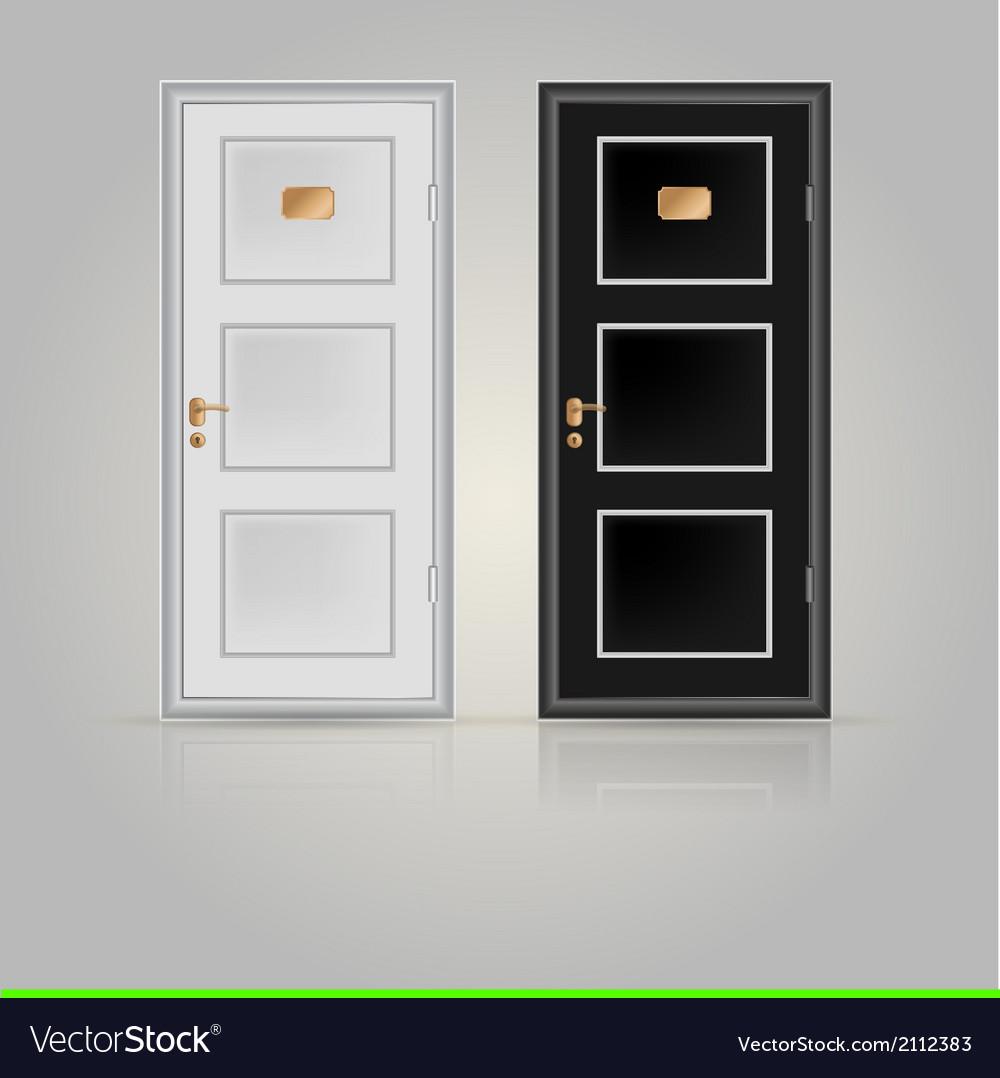 Closed doors vector image