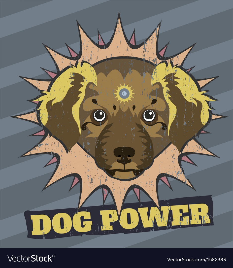 Dog power vector image
