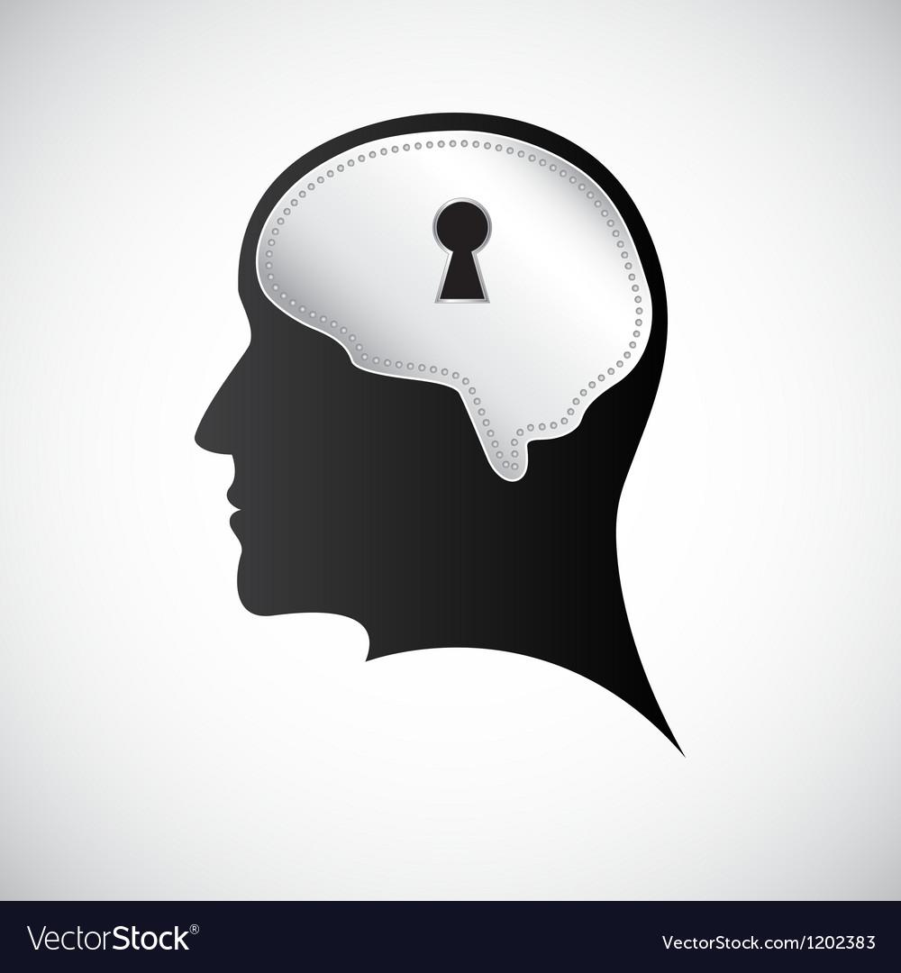 Mind keyhole vector image