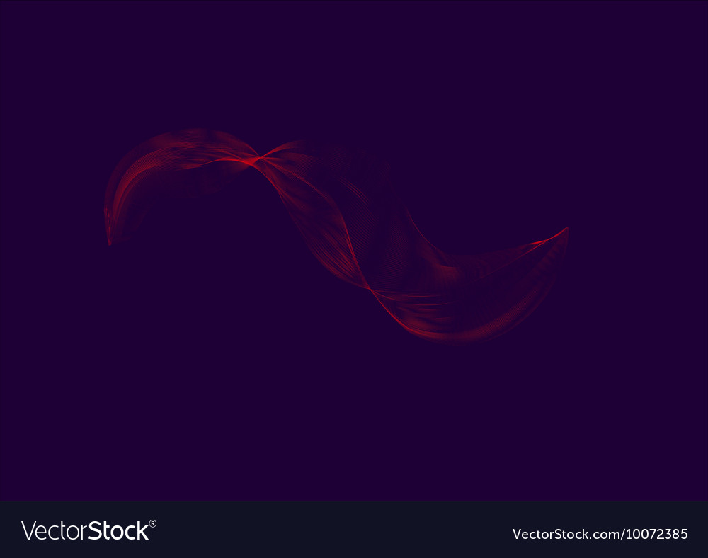 Curved lines vector image