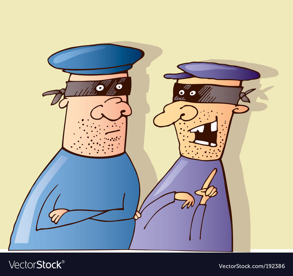 Two thieves vector image