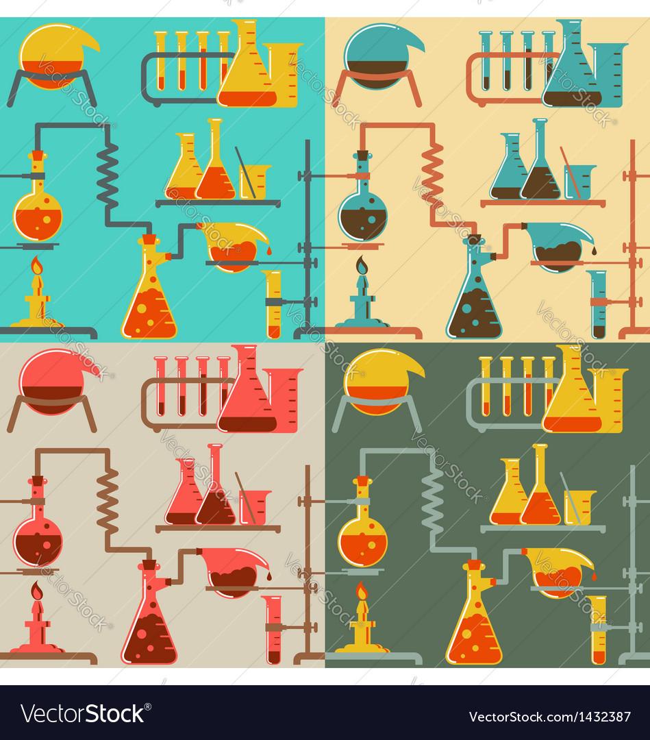 Chemistry pattern vector image