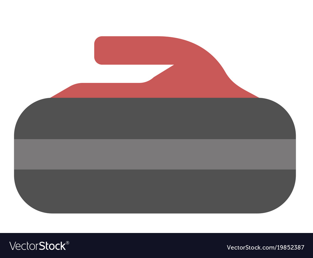Stone for curling cartoon vector image