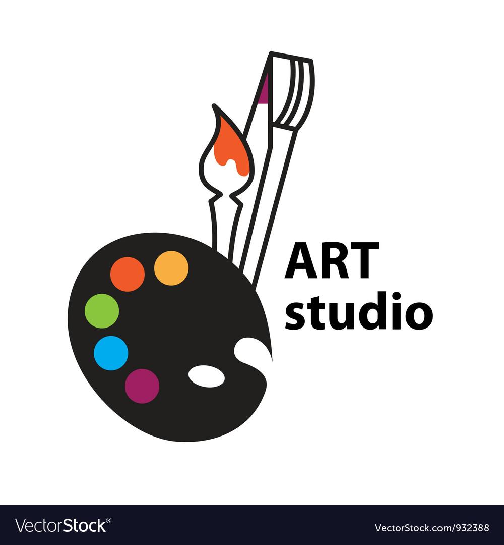 Art studio vector image