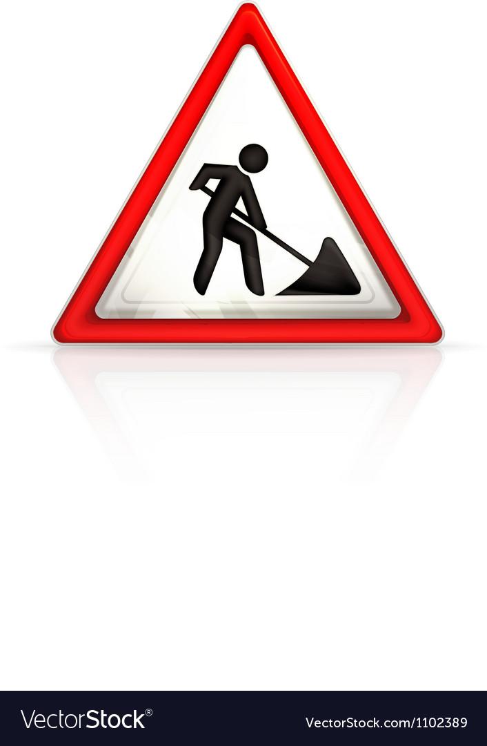 Roadworks sign vector image