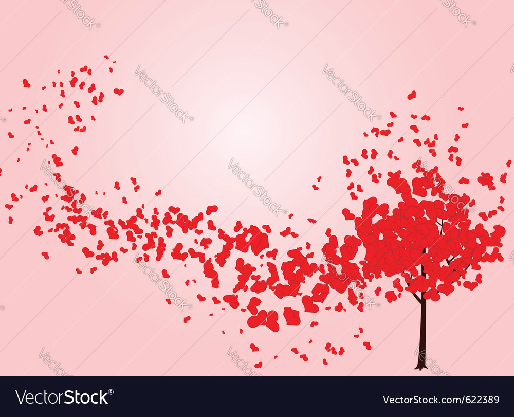 Perfekt Valentine Tree Vector Image