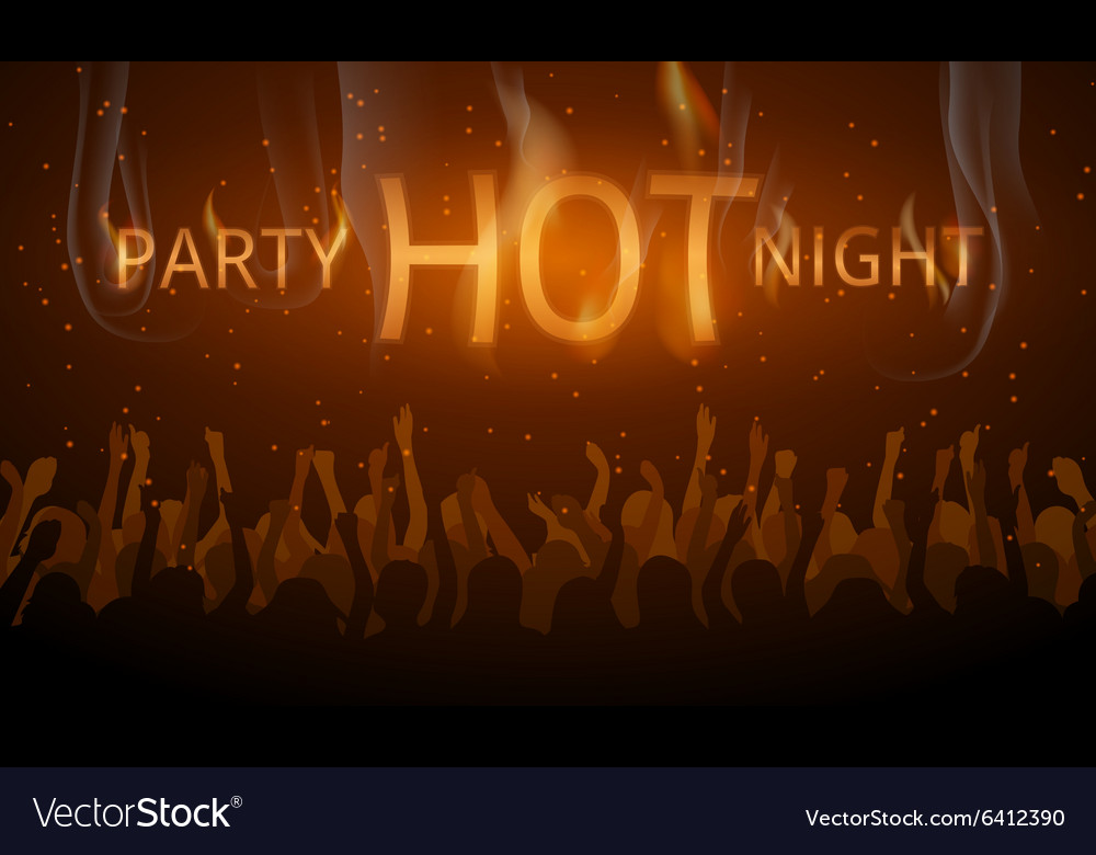 Disco flyer Hot night party vector image