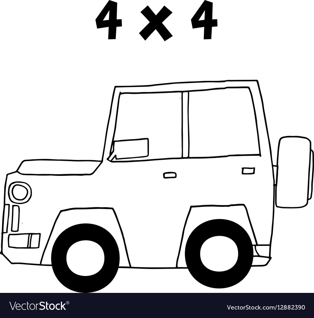 Jeep of art vector image