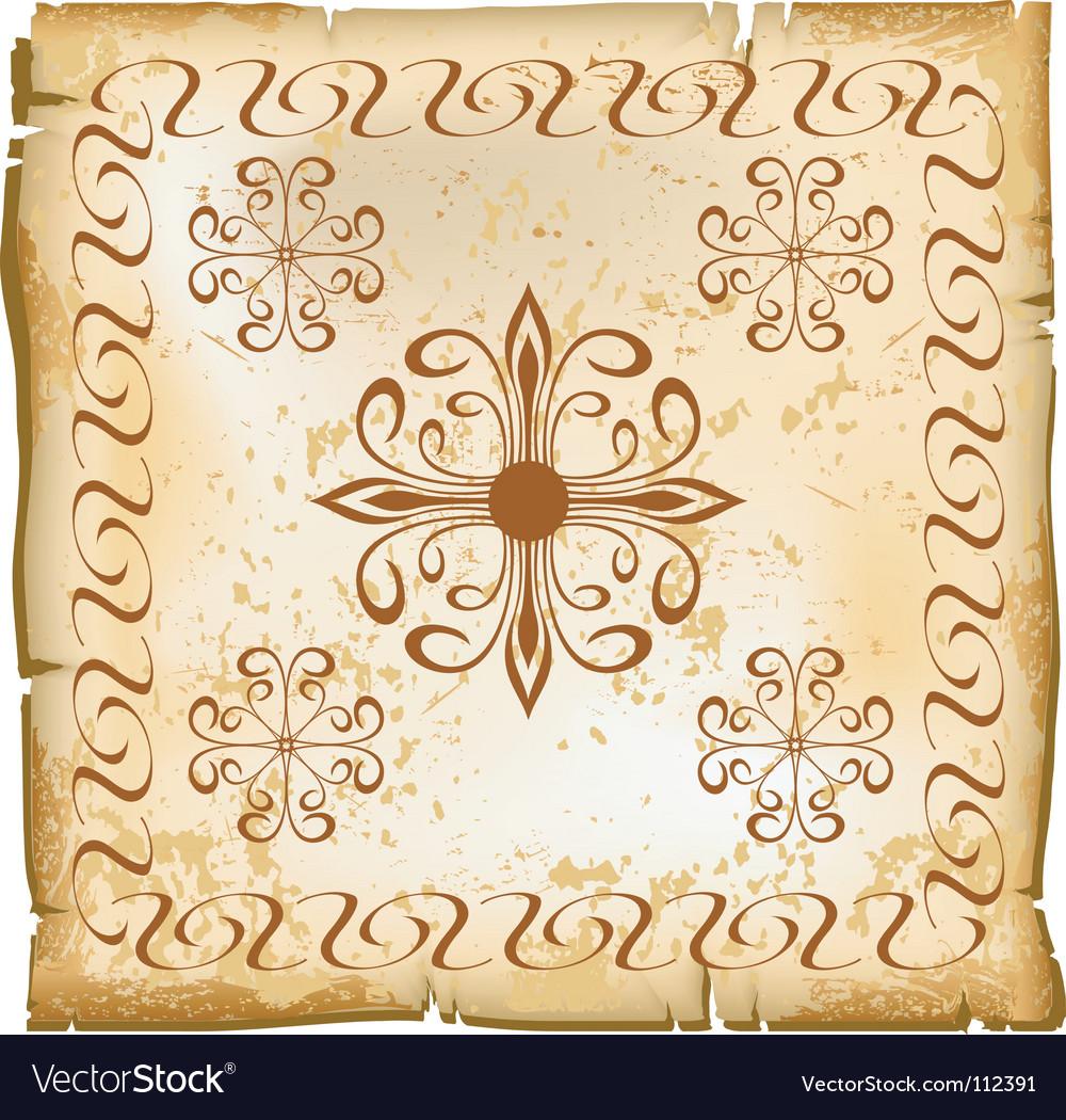 Flower paper pattern vector image