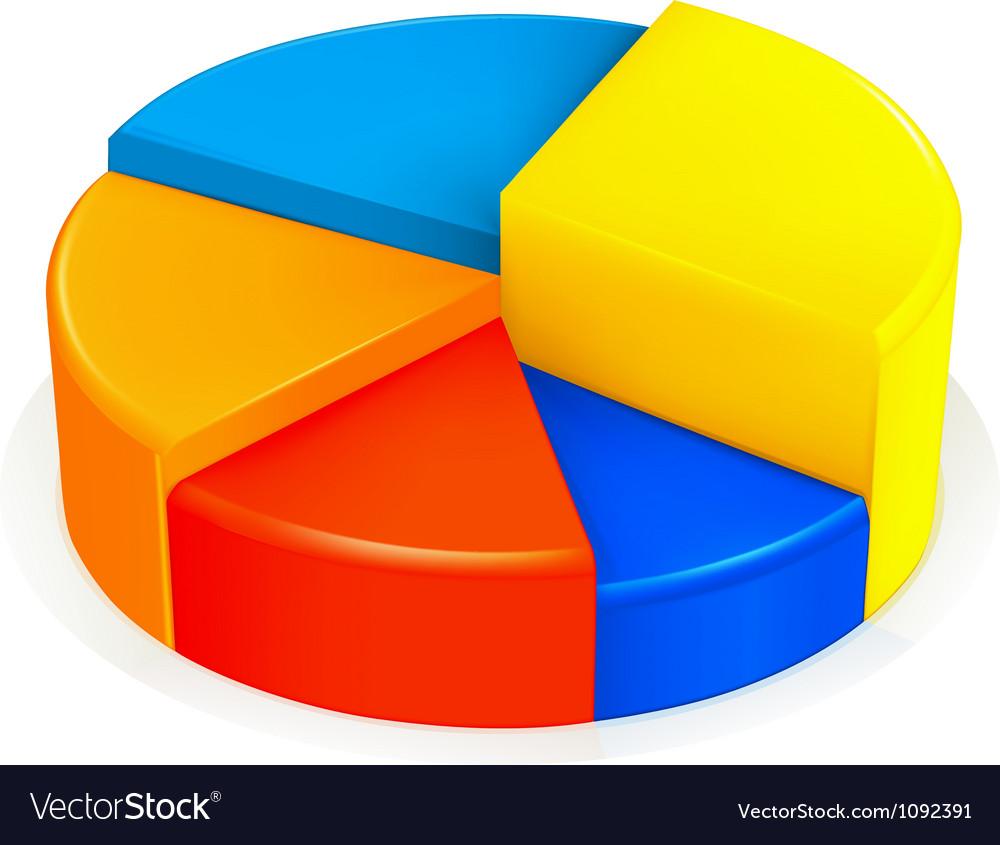 Circular diagram vector image