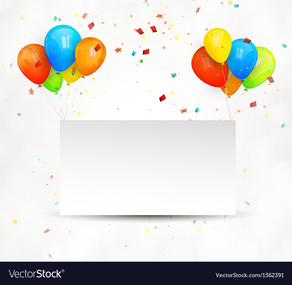 Holiday billboard balloons vector image