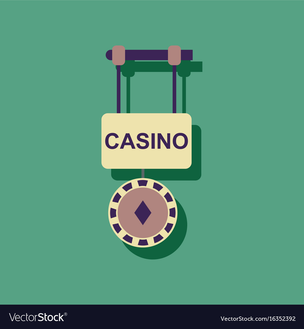 casino collection gambling set isolated on a
