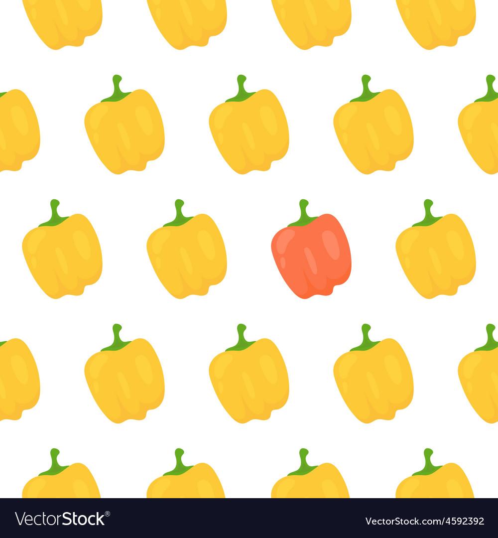 Sweet pepper seamless pattern vector image