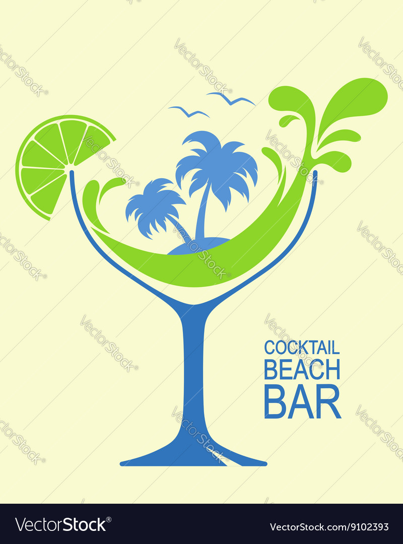 Summer cocktail vector image