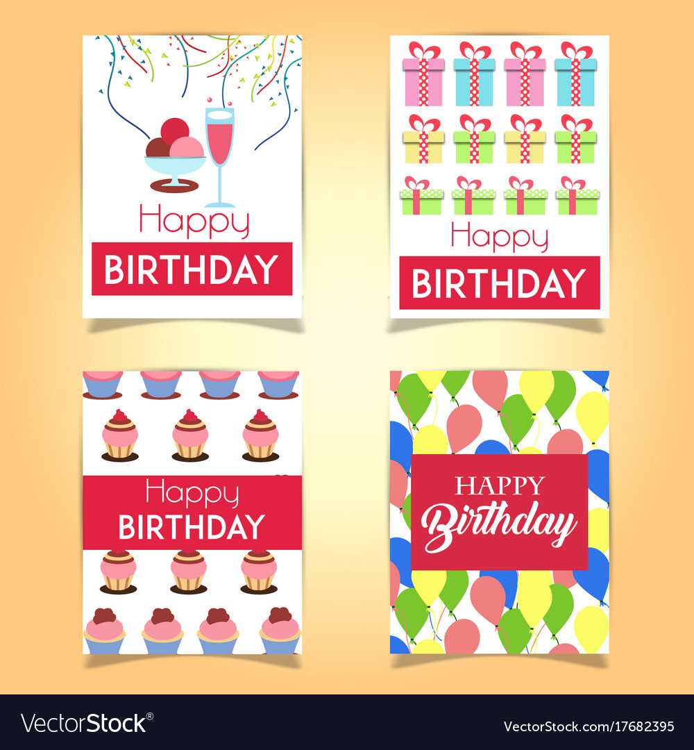 Happy birthday cards royalty free vector image happy birthday cards vector image bookmarktalkfo Images