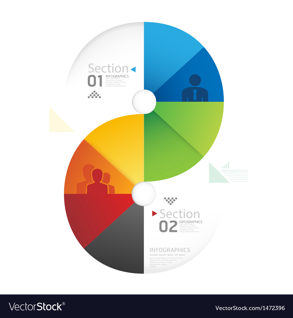 Abstract infographic Design Minimal circle shape vector image