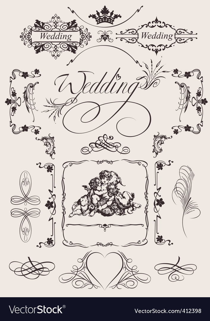 Wedding decoration Vector Image