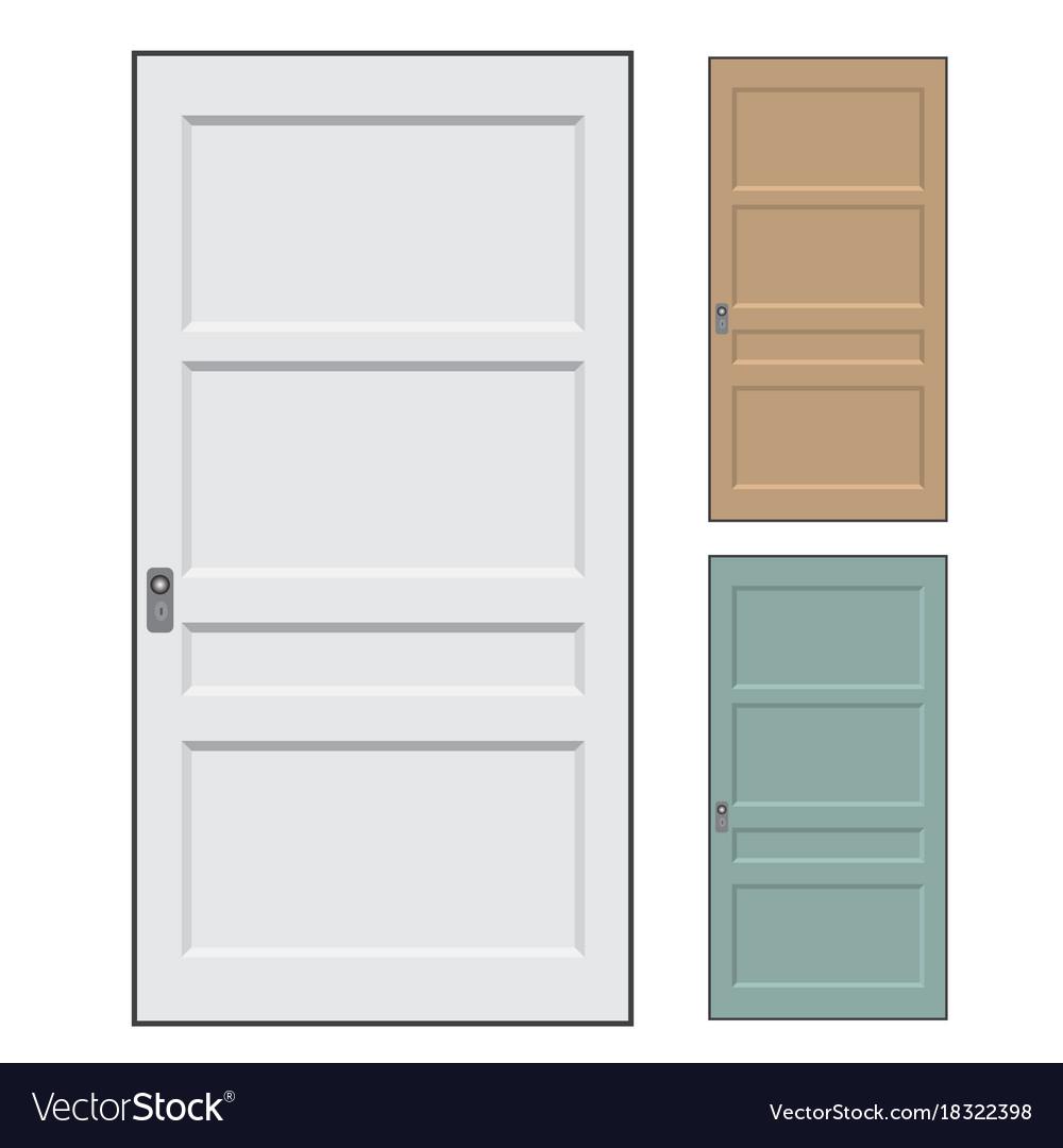 Isolated doors - vector image