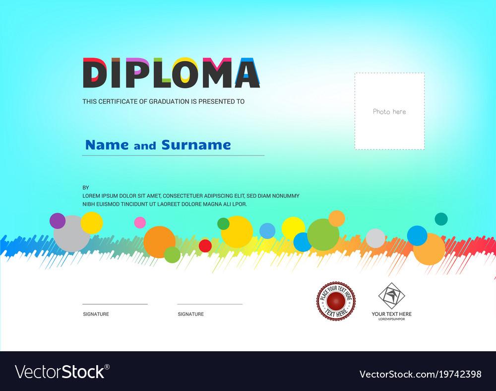 Kids summer camp diploma or certificate template vector image kids summer camp diploma or certificate template vector image yadclub Gallery