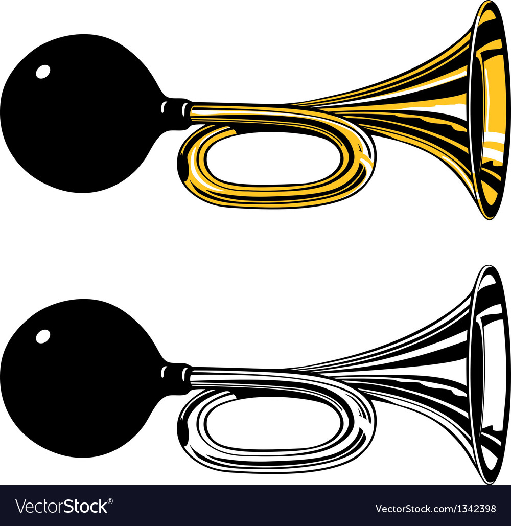 Vintage air horn with rubber bulb vector image