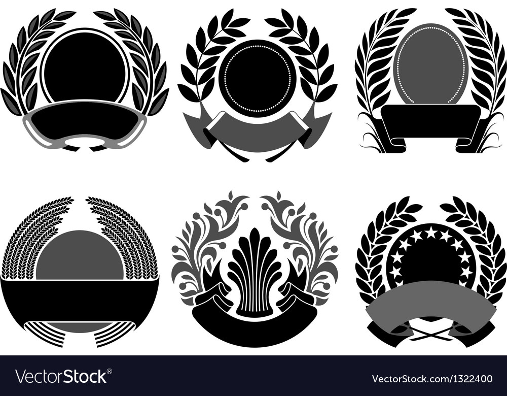 Crest set vector image