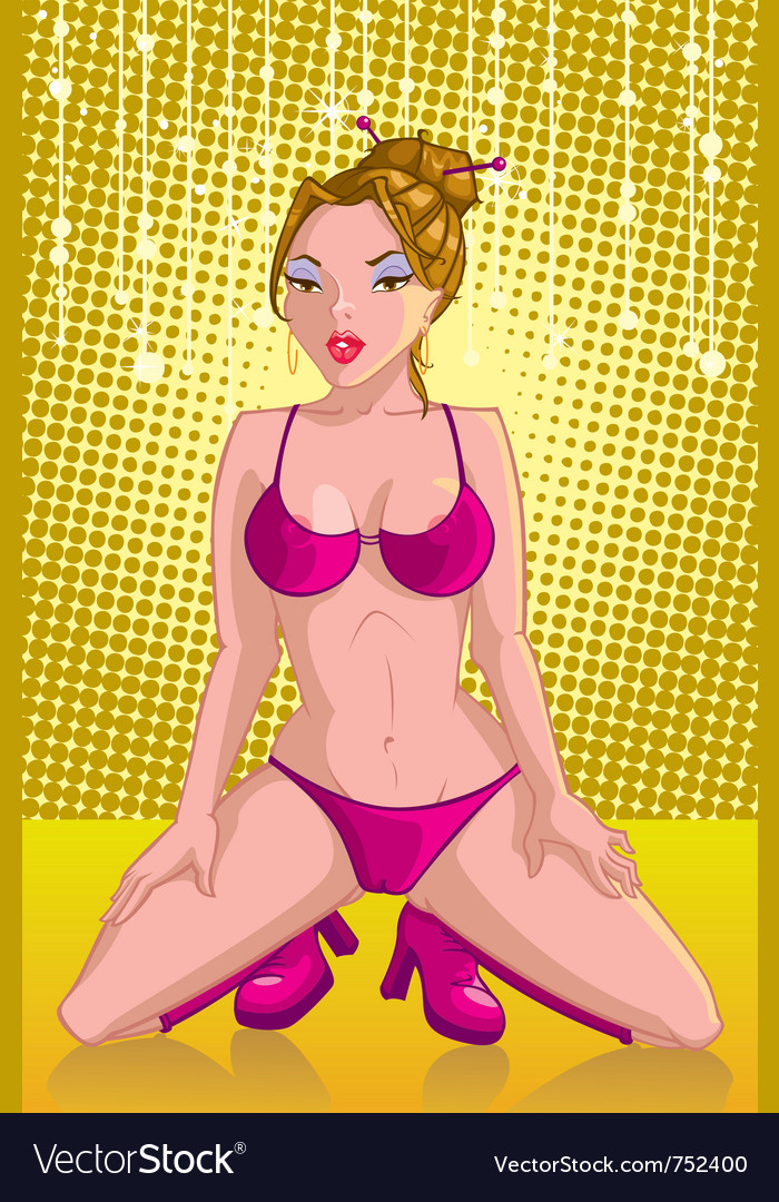 Pin-up girl vector image