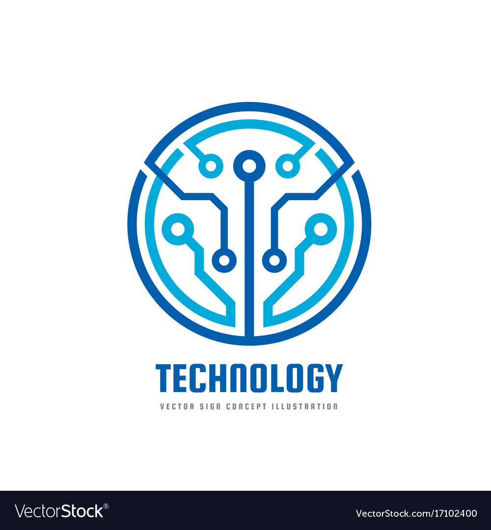 Technology - logo template vector image
