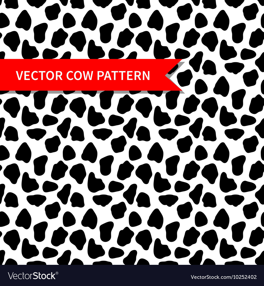 Cow skin seamless pattern vector image