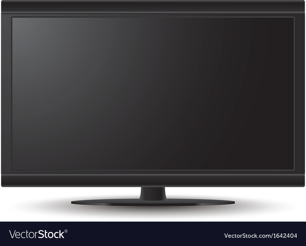 3D LCD TV vector image
