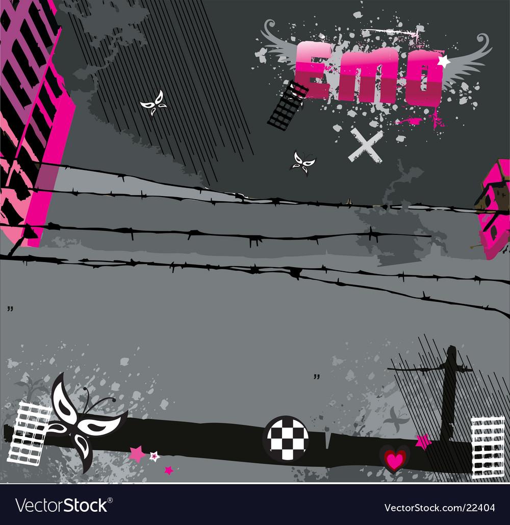 Emo background vector image