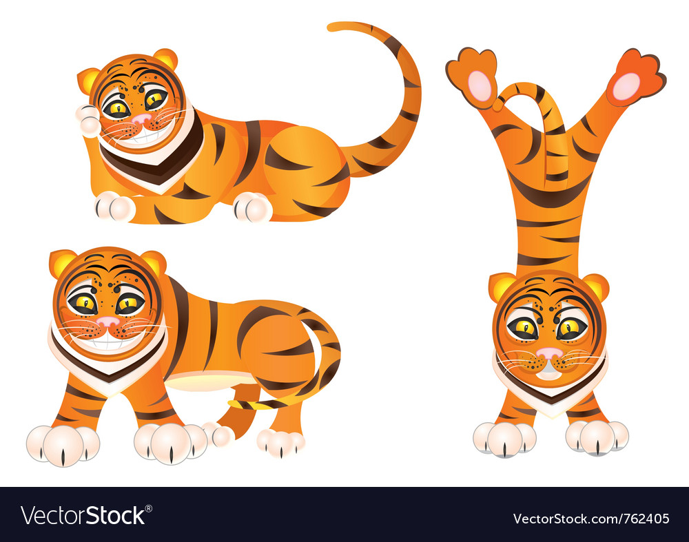 cartoon tiger royalty free vector image vectorstock