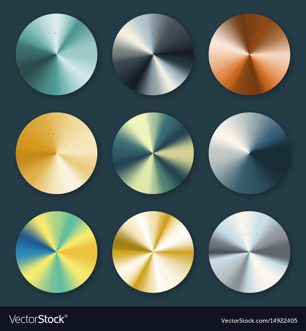 Metallic silver and gold conical metal vector image