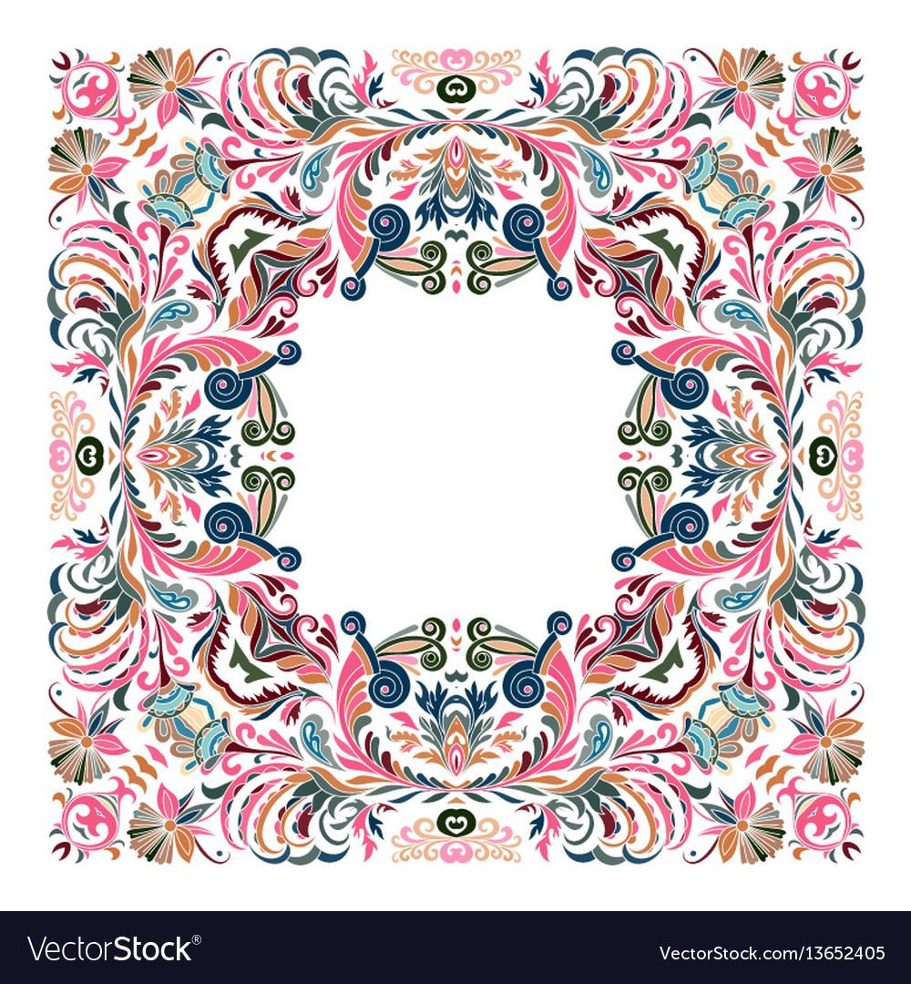 Precious frame for design template ornate vector image