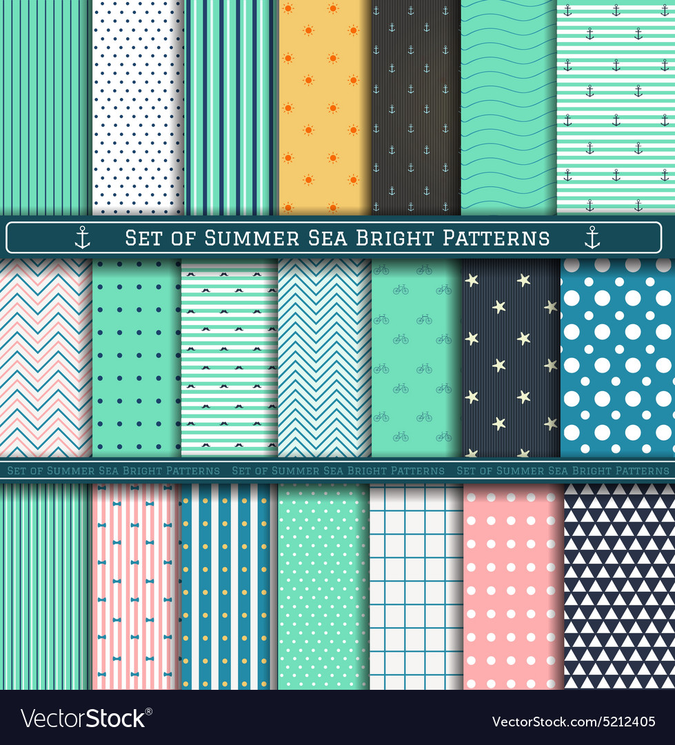 Set of Summer Pattern vector image