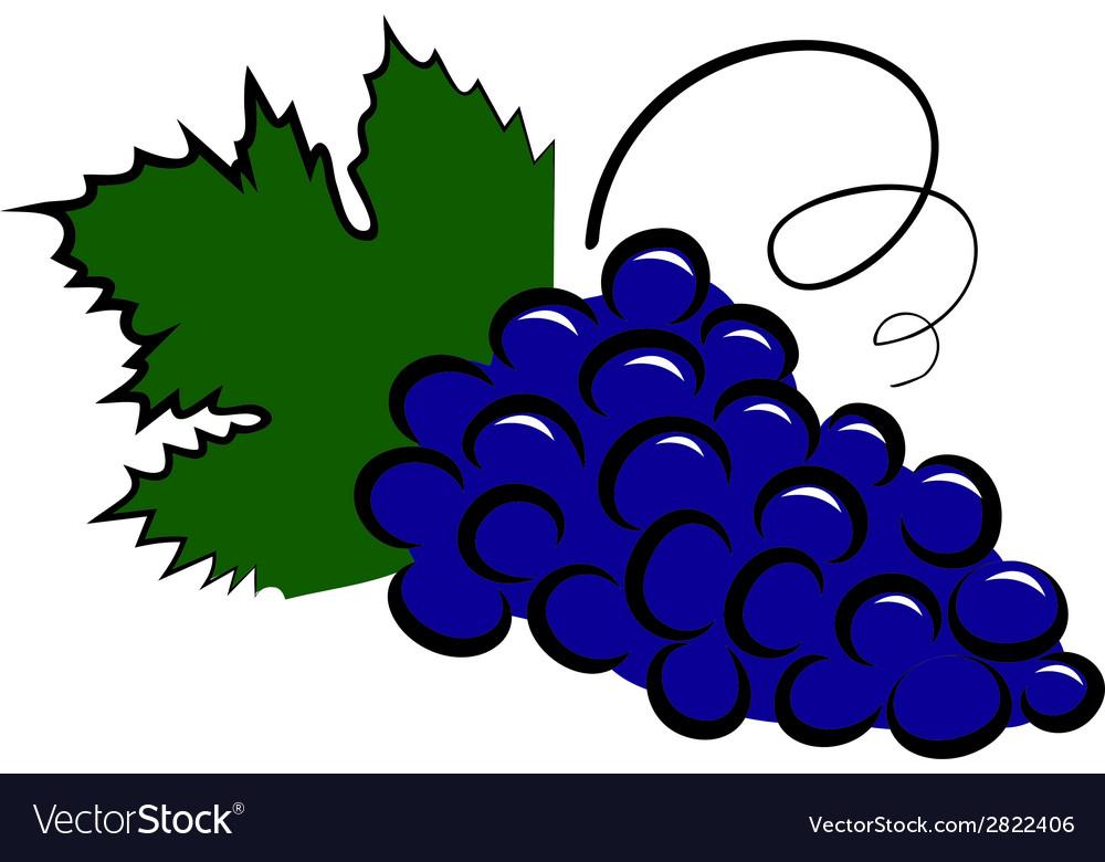 Grape icon vector image