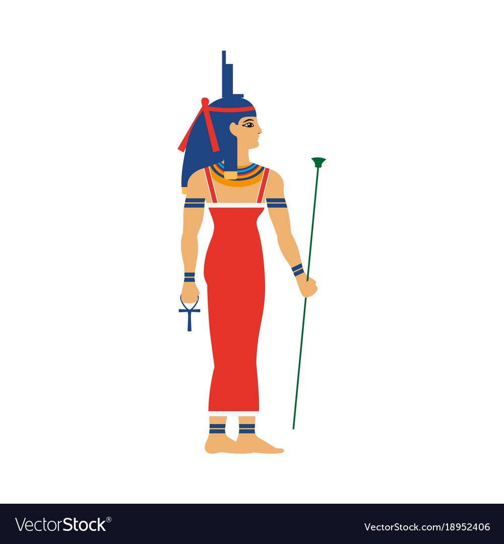 Isis ancient egypt goddess in throne headdress vector image isis ancient egypt goddess in throne headdress vector image biocorpaavc