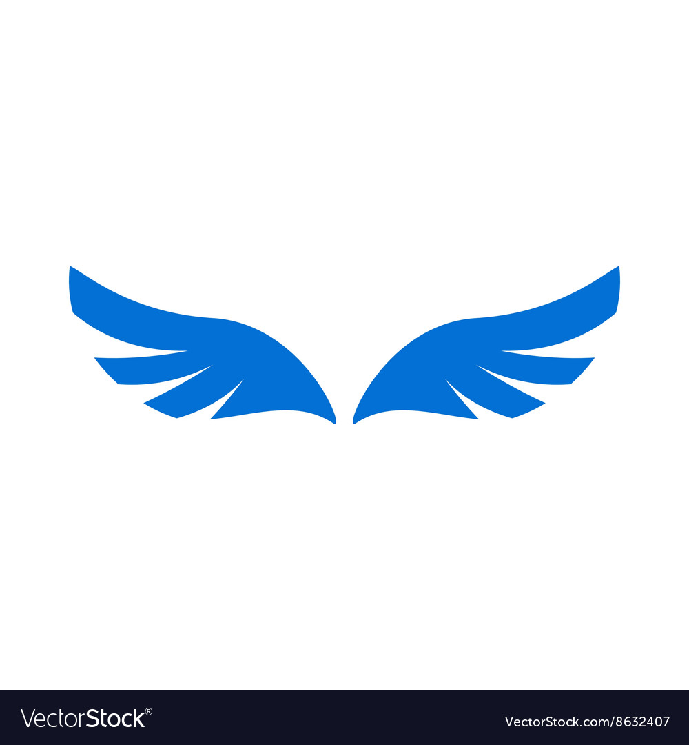 A pair of blue angel wings icon simple style vector image a pair of blue angel wings icon simple style vector image biocorpaavc